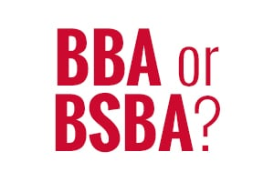 Difference Between a BSBA and a BBA