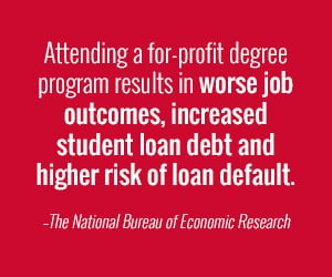 degrees from for-profit programs are risky