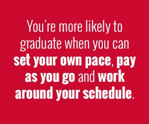 You're more likely to graduate when you can set your own pace