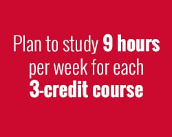 Plan to study for at least 9 hours a week