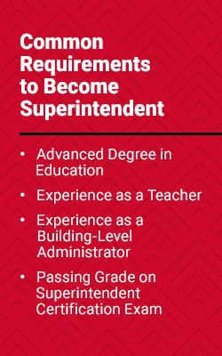 common requirements to become a superintendent