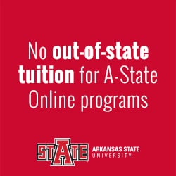 online MSE in Reading at A-State is the same for every student